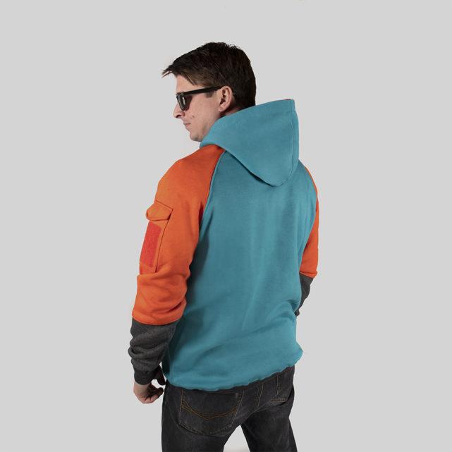 Field Staff Hoodie Orange / Blue