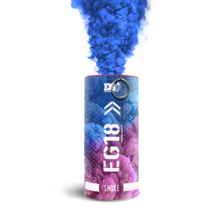 Blue gender reveal smoke bomb - large